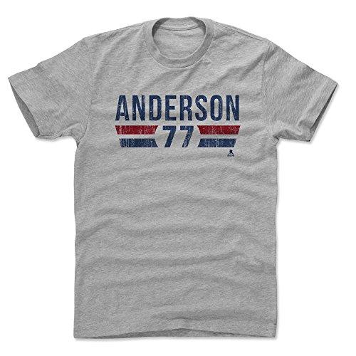 (500 LEVEL Josh Anderson Cotton Shirt X-Large Heather Gray - Columbus Blue Jackets Men's Apparel - Josh Anderson Columbus Font B)