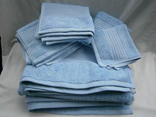 Lauren Ralph Lauren Greenwich OCEAN TIDE Baby Blue 6 piece Towel Set; 2 Bath, 2 Hand, 2 Washcloths