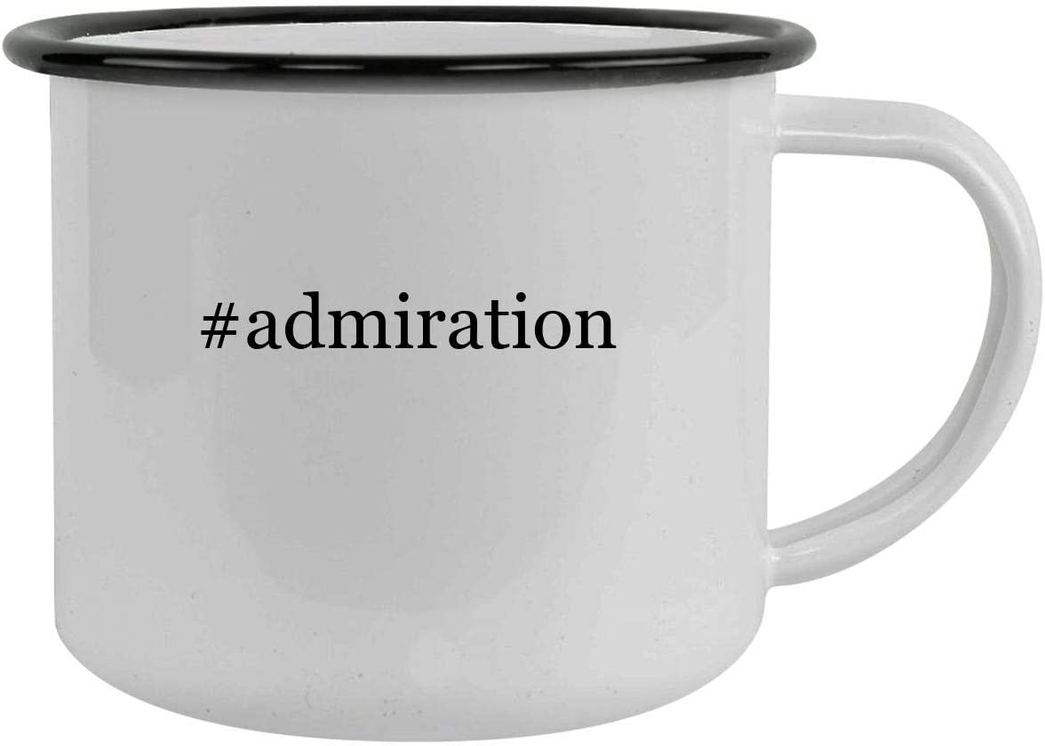 #admiration - 12oz Hashtag Camping Mug Stainless Steel, Black