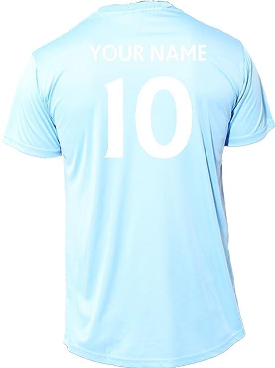Manchester City camiseta de fútbol oficial niños Unisex libre impresión por swagwear, Niños niña, Clubs Colours, Clubs Colours: Amazon.es: Deportes y aire ...