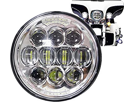 COWONE 80W Osram Motorcycle 5-3/4 5.75 Daymaker LED Headlight for Harley Davidson 883,sportster,triple,low rider,wide glide Headlamp Projector Driving Light