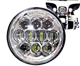 COWONE 80W Osram Motorcycle 5-3/4 5.75 LED Headlight for Harley 883,Sportster,Triple,Low Rider,Wide Glide Headlamp Projector Driving Light