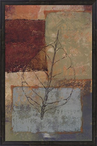 Water Leaf II by Richard Ivy Framed Art Print Wall Picture, Espresso Brown Frame, 24 x 37 (Richard Ivy Water)