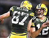 Aaron Rodgers & Jordy Nelson Autographed Signed Green Bay Packers 8 x 10 Photo - Mint Condition - COA From Nostalgic Cards & Autographs
