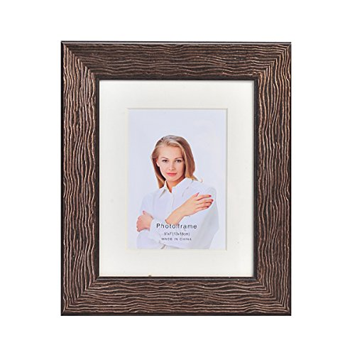Lifetime Melannco Portrait Frame, Brown, 8-Inch-by-10-Inch