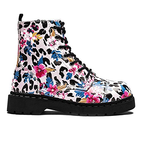U 7 e Boot Anarchic K Pink Print Scarpe T Bianco Leopard da donna multicolore Eye YgCqd