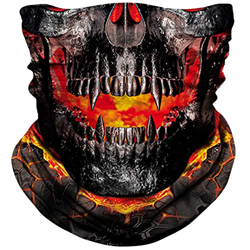 NTBOKW Neck Gaiter Face Mask for Men Women Tube Scarf Mask for Sun Wind Dust Protection Skull Face Mask Rave Motorcycle…