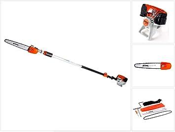 Stihl HT 103 - Desbrozadora de gasolina (mango telescópico de 1,4 CV, 270-390 cm, longitud de corte de 30 cm, con cadena de sierra Oilomatic): Amazon.es: Bricolaje y herramientas