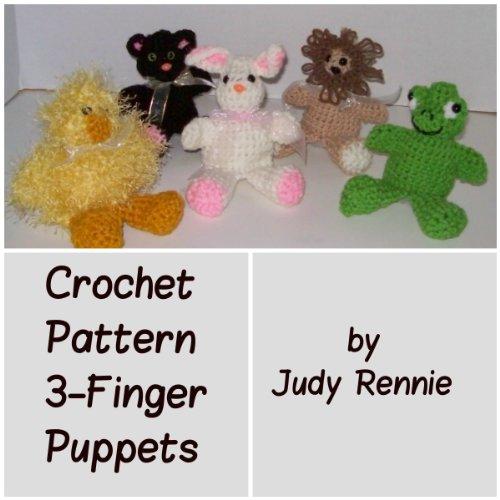 Crochet Pattern 3-Finger Puppets -