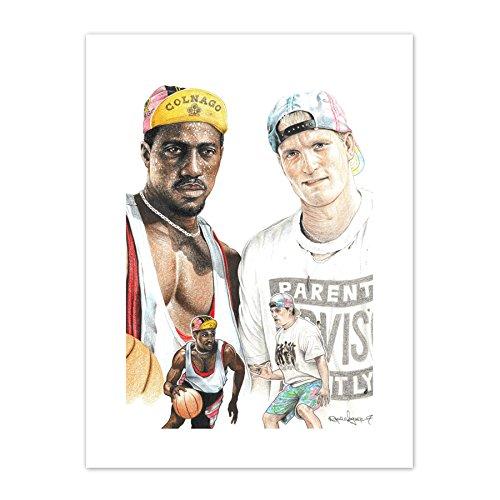 Wee Blue Coo LTD Wayne Maguire Tattooed White Men Can't Jump Inked Ikon Canvas Art Print