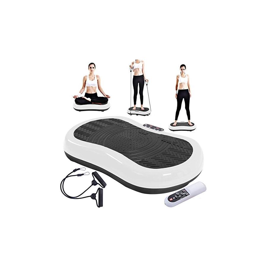 TANGKULA Ultrathin Mini Crazy Fit Vibration Platform Massage Machine Fitness Gym