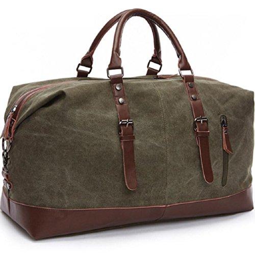 ZC&J Al aire libre bolso de 20-35L bolso de la lona del bolso de la botella del cilindro de la lona de la capacidad, conveniente para los hombres y las mujeres que recorren el bolso de hombro de la ap D