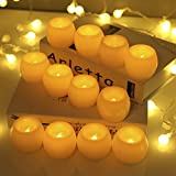 Candles Battery Operated Greenclick LED Flameless Candles Flickering Unscented for Seasonal and Festival Celebration 12 Sets