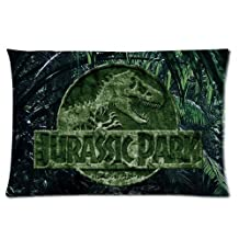 Amazing Jurassic World Movie Poster Custom Zippered Pillowcase Pillow Cases Cover Home Decorative 18 * 18 Inch (One side)