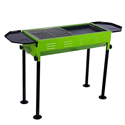 YI HOME- Barbacoa Plegable Portátil Plegable De BBQ Hogar Espesado Verde Americano Jardín Grande De
