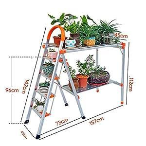 JXJJD Taburete Plegable Escalera de Aluminio de Tres o ...