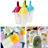 Bazaar DIY Flat Popsicle Molds With Straw Ice Cream Maker