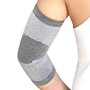 Elbow Compression Support Sleeve Band for Tendonitis, Golf Elbow, Tennis Elbow, Arthritis, Baseball, Computer Desk By LightStep, Recovery Training Aid Provides Pain Relief Without Therapy