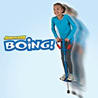 Jumparoo Boing! Pogo Stick de Air Kicks; Mediano para niños de 60 a 100 lb, colores surtidos azul o rojo