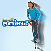Jumparoo Boing! Pogo Stick by Air Kicks; Medium for Kids 60-100 Lbs, Assorted Colors Blue or Red
