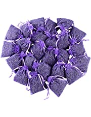 24 Small Purple Sachets Craft Bag with Dried French Lavender Flower Buds - Lavender Sachets for Wedding Toss, Home Fragrance Sachets for Drawers and Dressers - by Lavande Sur Terre