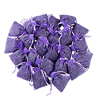 French Lavender Sachets for Drawers and Closets Fresh Scents, Home Fragrance Sachet, Pack of 24, Purple