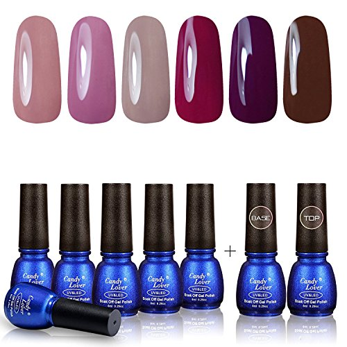 Area License Trim (Perfect Summer 6 Colors Gel Nail Polish - with Clear Color Base Coat and Top Coat Nail Polish Kit UV LED Home Gel Manicure 8ml Each #19)