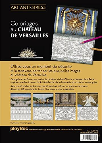 Coloriage Chateau Versailles.Art Anti Stress Coloriages Chateau De Versailles Amazon Fr
