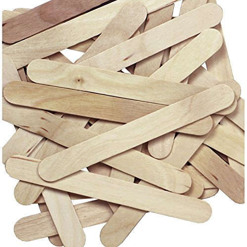 Jumbo Natural Craft Sticks,100 pieces