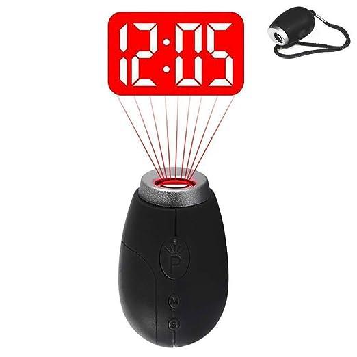 QYLT Mini Despertador Proyector, Reloj Digital de Proyección ...