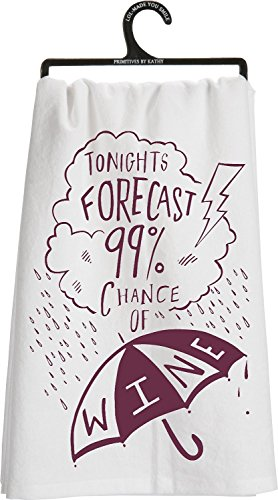 TONIGHTS FORECAST CHANCE Kitchen Towel product image