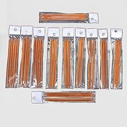 """Zehui Carbonized Bamboo Needles Set Knitting Kits Double Pointed (2.0mm - 5.0mm) 5 Sets of 11 Sizes 5""""(13cm)"""