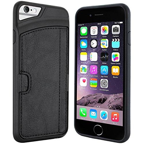 iPhone 6 Hülle - Premium Silikonhülle mit Kreditkartenfach - Schutzhülle Tasche Lederhülle für Apple iPhone 6 (4,7 Zoll)