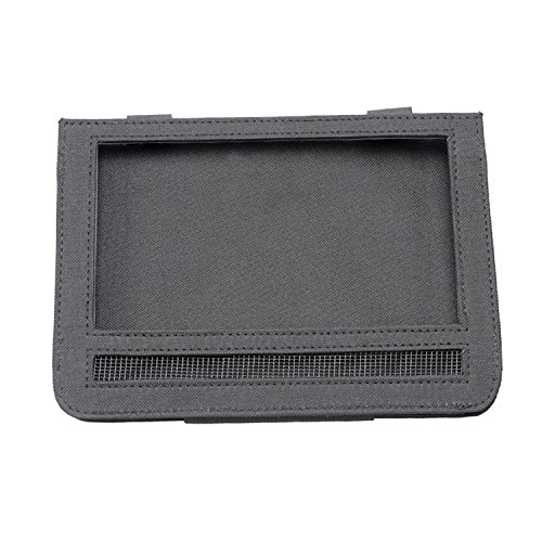 Car Headrest Mount Holder DVD Player Leather Case for 9 Inch Swivel & Flip Style Portable DVD Player,Black