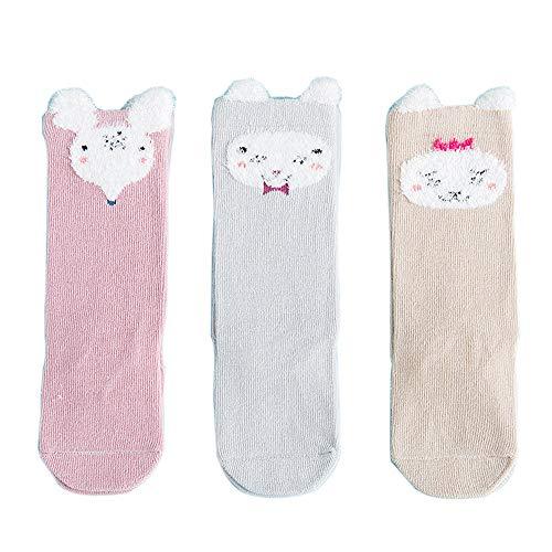 FQIAO Children Socks 1-3 Years 3Packs Cotton Unisex S Size C