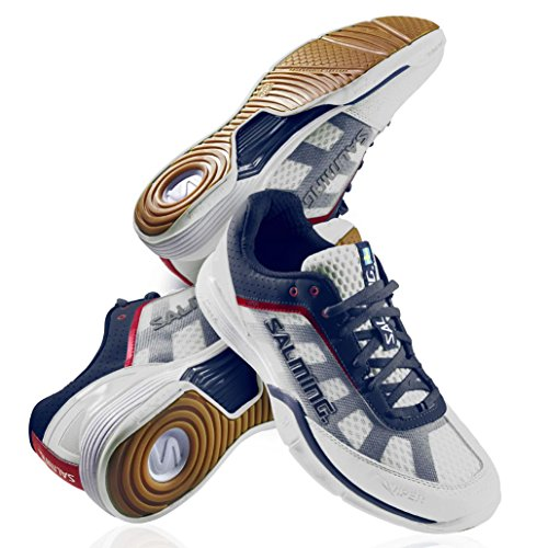 Salming Viper Mens Court Shoes White/Navy SlPyPR7a