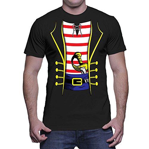 Mens Pirate Costume T-shirt (Large, BLACK) ()