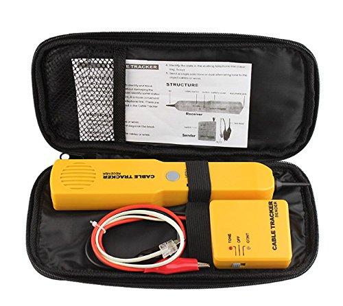 Cable Tracker, Bao Sheng@ Telephone Line Finder RJ11 Wire Tracker Network Break Short Circuit Tester (RJ-11) by Bao Sheng