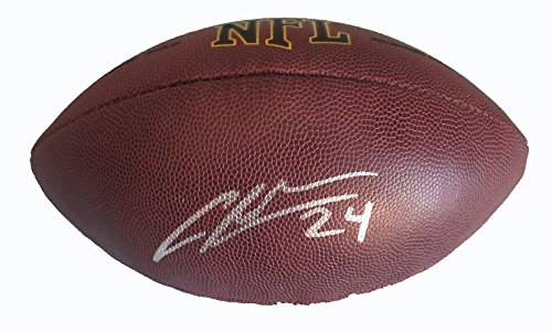 Charles Woodson Autographed Wilson NFL Football W/PROOF, Picture of Charles Signing For Us, Oakland Raiders, Green Bay Packers, Michigan Wolverines, Super Bowl Champion, Heisman Trophy, NTL Champs (Woodson Autograph)