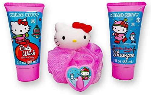 Hello Kitty Soap & Scrub Set. Plus Free Bonus 1 Toothbrush with Cap-Protector and Hello Kitty Stickers. - Hello Kitty Bath Set