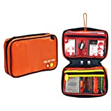 First Aid Kit Bag, Relief Pod Orange Small Emergency Home Safety Kit, 32pc