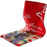 Oriental Furniture Tatami Meditation Backrest Chair - Red Geisha