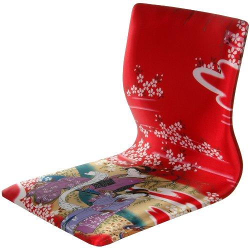 Oriental Furniture Tatami Meditation Backrest Chair - Red Ge