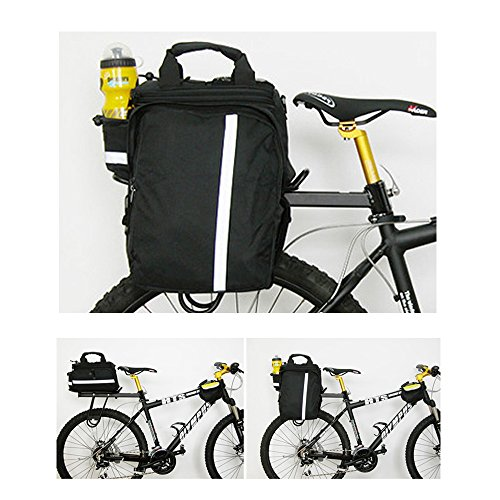 GEARONIC TM Cycling Bike Bicycle Rear Tail Seat trunk Bag Pannier Pouch Rack Shoulder Travel Black