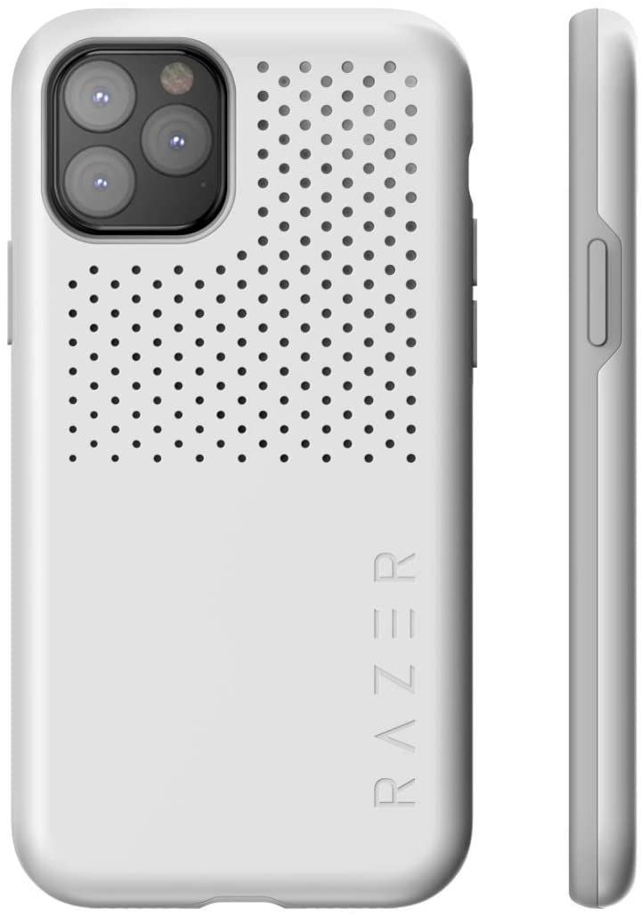 Razer Arctech Pro for iPhone 11 Pro Case: Thermaphene & Venting Performance Cooling - Wireless Charging Compatible - Drop-Test Certified up to 10 ft - Mercury White