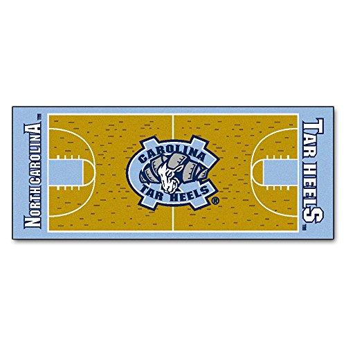 FANMATS NCAA UNC University of North Carolina - Chapel Hill Tar Heels Nylon Face Basketball Court Runner
