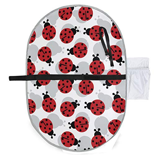 - CHLBOJ Waterproof Washable Baby Diaper Changing Pad Mat Cute Ladybugs Pattern Portable and Foldable Infant Large Nappy Mat 27x20 inch