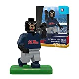 NCAA Mississippi Old Miss Rebels Black Bear Mascot Gen 2 Mini Figure, Small, Black