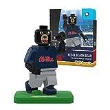 NCAA Mississippi Old Miss Rebels Black Bear Mascot Gen 2 Mini Figure, Small, Black