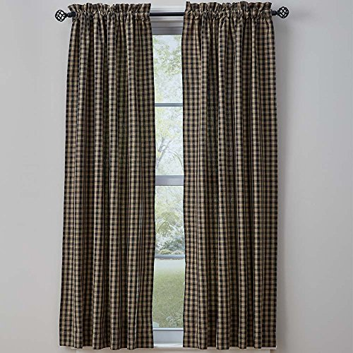 Town and Country Black Curtain - Country Panel Curtain